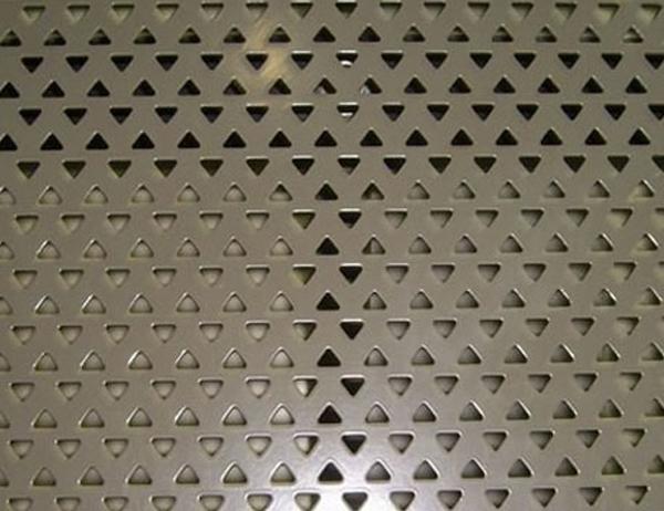 Triangular Hole Perforated Metal Mesh
