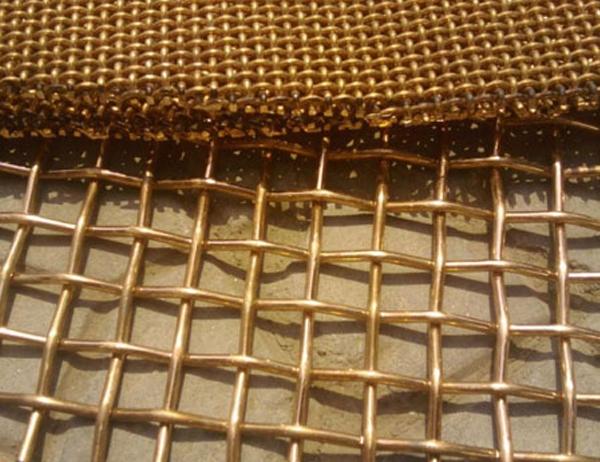 Brass Wire Crimped Mesh